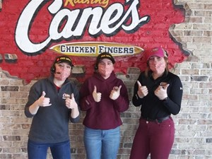 Cane's Crew,  Thanks for a...